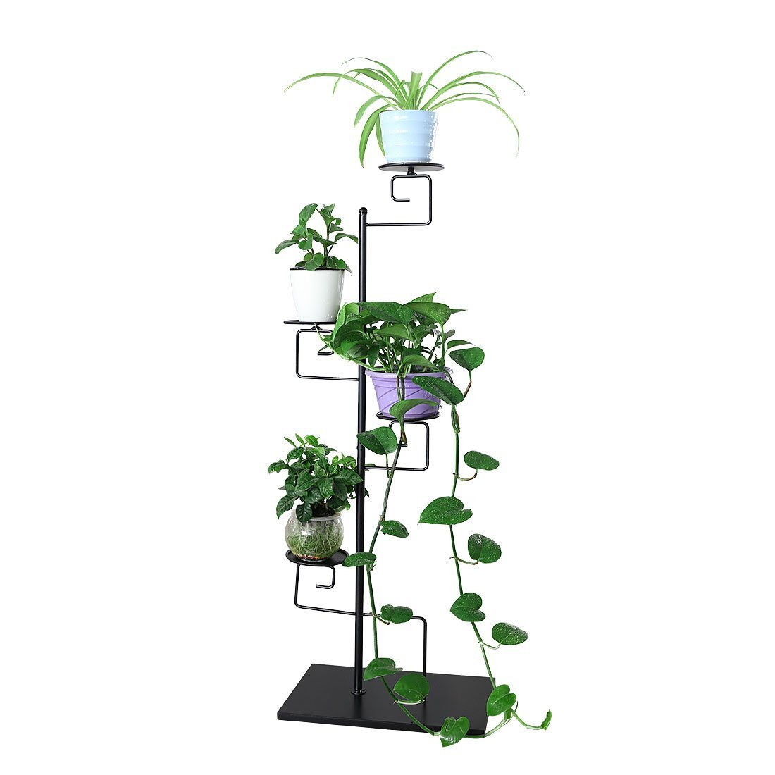 4-Tiered Folding Plant Stand Pots Display Shelf by HLC