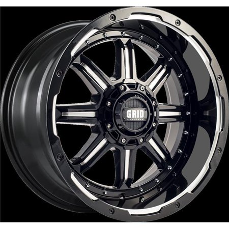 117955M1 17 x 9 in. GD10 Wheel with Milled Lip, Gloss Black - image 1 de 1