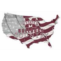 Mississippi State Bulldogs USA Flag Cutout Sign