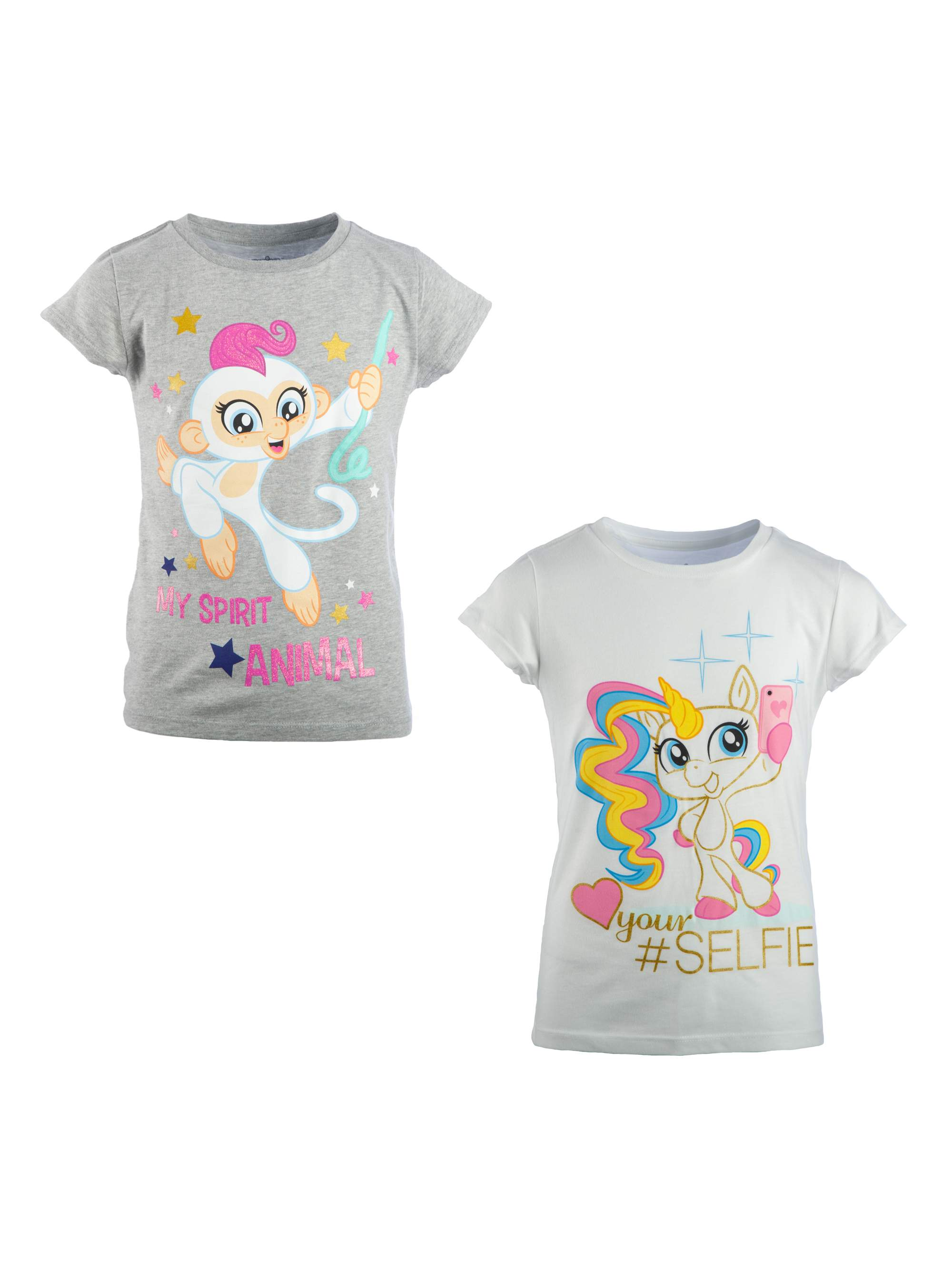 Unicorn and Spirit Animal Graphic T-Shirts (Little Girls & Big Girls)