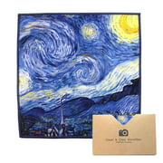 """EXTRA LARGE [2 Pack] Classic Art (Vincent Van Gogh """"Starry Night"""") - Microfiber Cleaning Cloths (Best for Camera Lens, Glasses, Screens, and all Lens.)"""