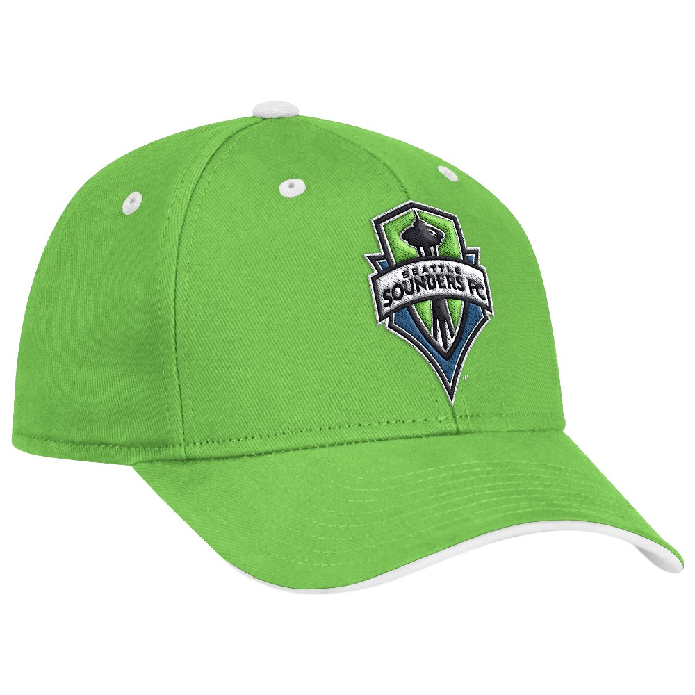 Seattle Sounders Adidas MLS Jersey Hooks Team Structured Adjustable Hat - Green