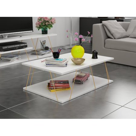 Gold Antique Coffee Table - Brayden Studio Colette Coffee Table