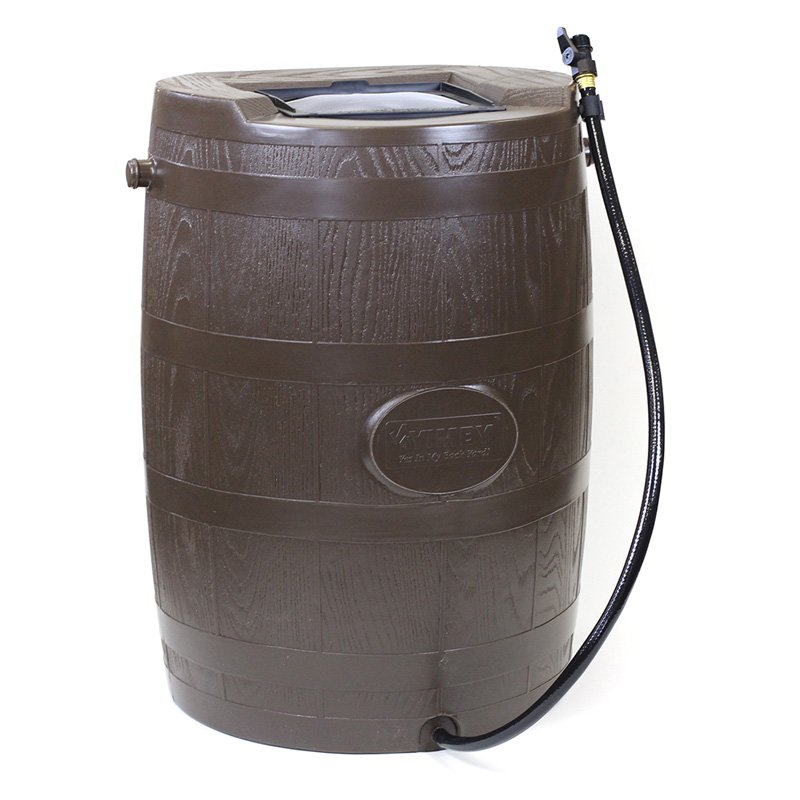 YIMBY Half Barrel Rain Barrel - Brown