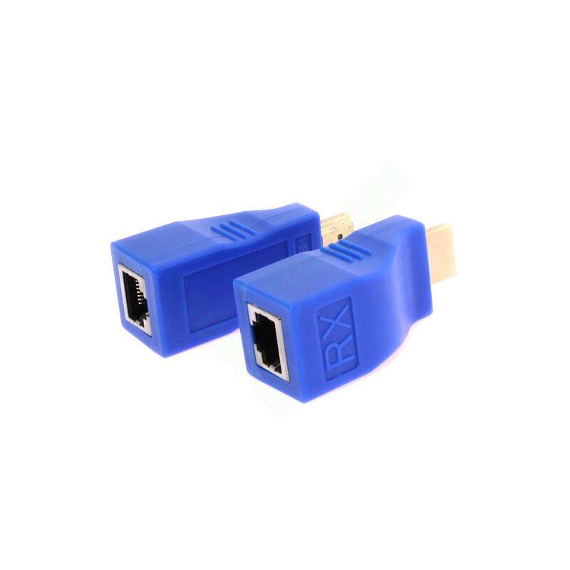 HDMI 1080P 30 M Meter Extender Over Ethernet LAN CAT5e CAT6 Network Cable 100Ft - image 3 de 7