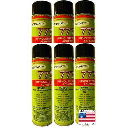 QTY 6 POLYMAT 777 Spray Glue Multipurpose Bond Adhesive for Feather (Feather Glue)