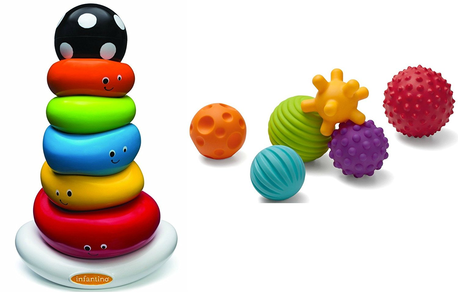 Funny Faces Ring Stacker & Multi Ball Set By Infantino by Infantino