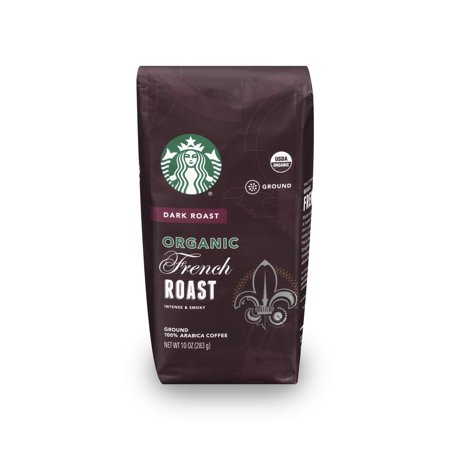 Starbucks Organic French Roast Ground Coffee, 10-Ounce Bag (Fresh Roasted Coffee Llc Organic)