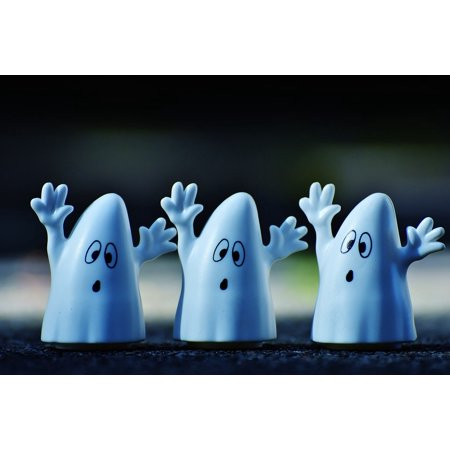 Canvas Print Halloween Autumn Ghosts Happy Halloween Ghost Stretched Canvas 10 x 14 - Happy Halloween Casper The Ghost