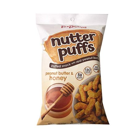 Popchips Nutter Puffs Snack with Real Peanut Butter 4oz, 2 Pack (Peanut Butter & - Peanut Butter Puffs