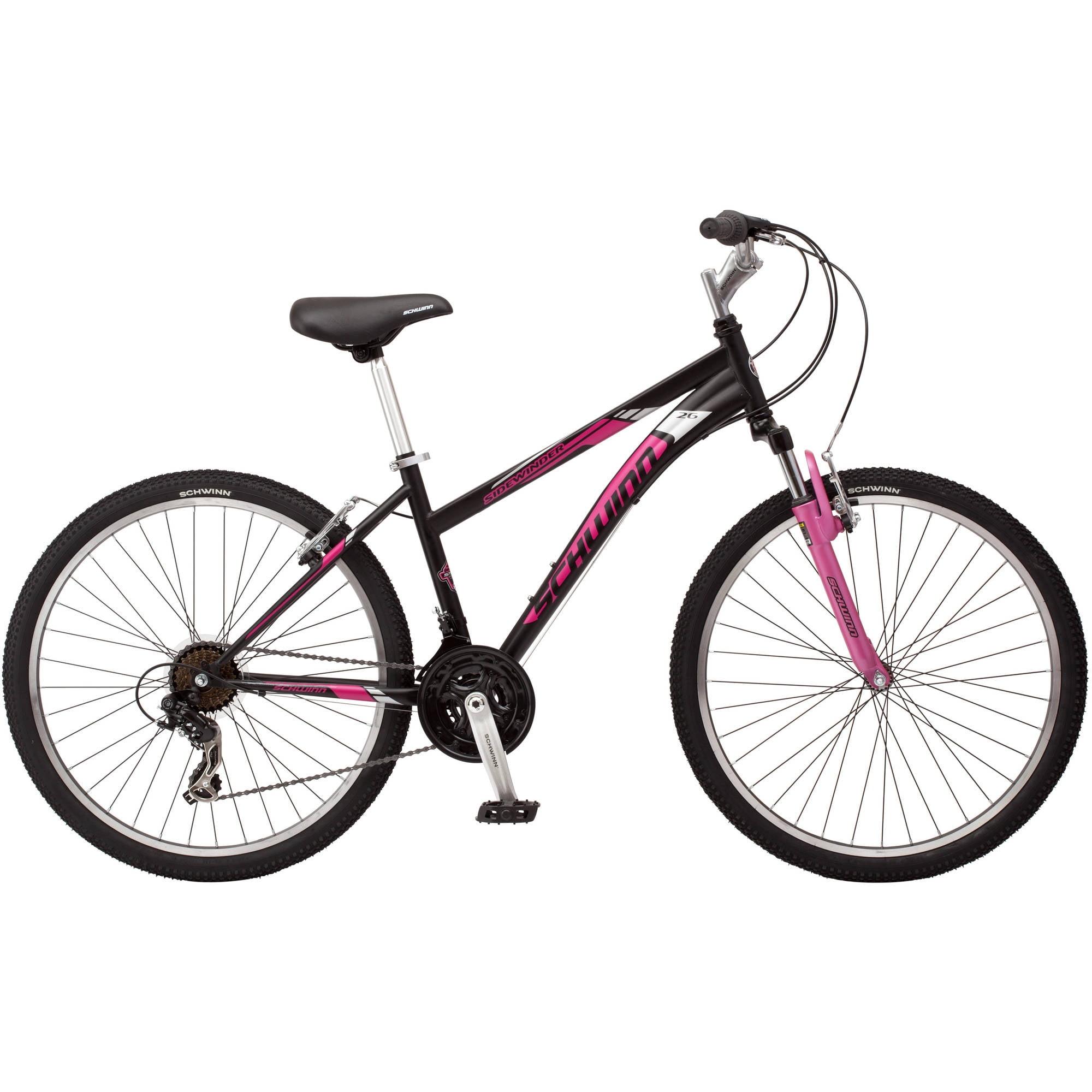26 schwinn sidewinder women s mountain bike matte black pink rh walmart com Schwinn Ranger Review Schwinn Women's Ranger Mountain Bike