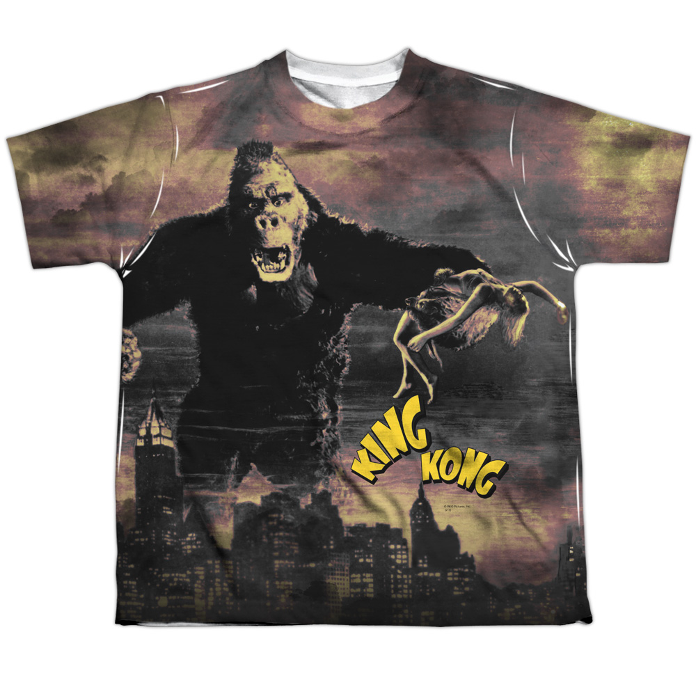 King Kong Kong In The City Big Boys Youth Sublimated Polyester Shirt