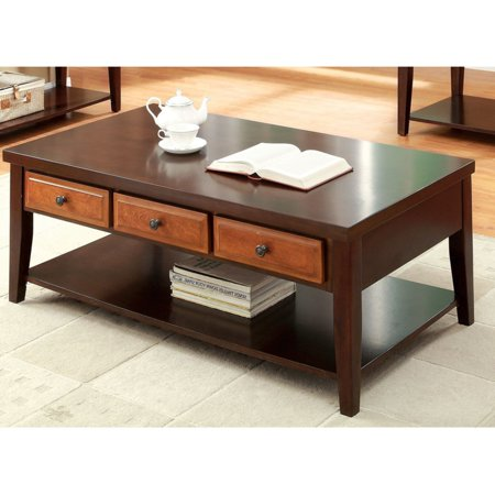 Enitial lab furniture of america divonne dual tone coffee for Furniture of america enitial lab