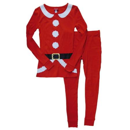 Womens Red Santa Clause Coat Pajamas Christmas Sleep Set