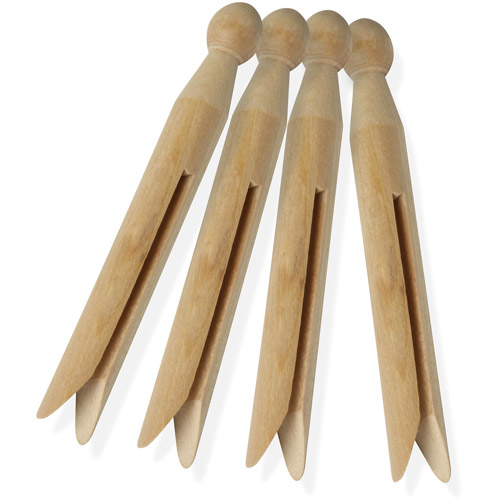 Honey-Can-Do Traditional Wood Clothespins, 100-Pack