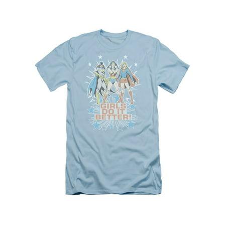 DC Comics Wonder Woman Batgirl & Supergirl Girls Do It Better Adult Slim T-Shirt](Dc Comic Girls)