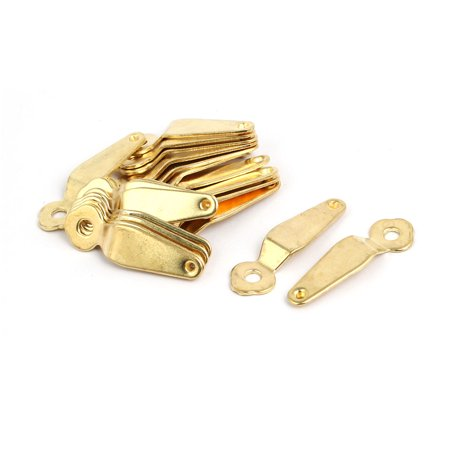 Uxcell 20pcs 40mmx12mmx1mm Picture Frame Turn Button Photo Turnbutton Gold Tone w Screw