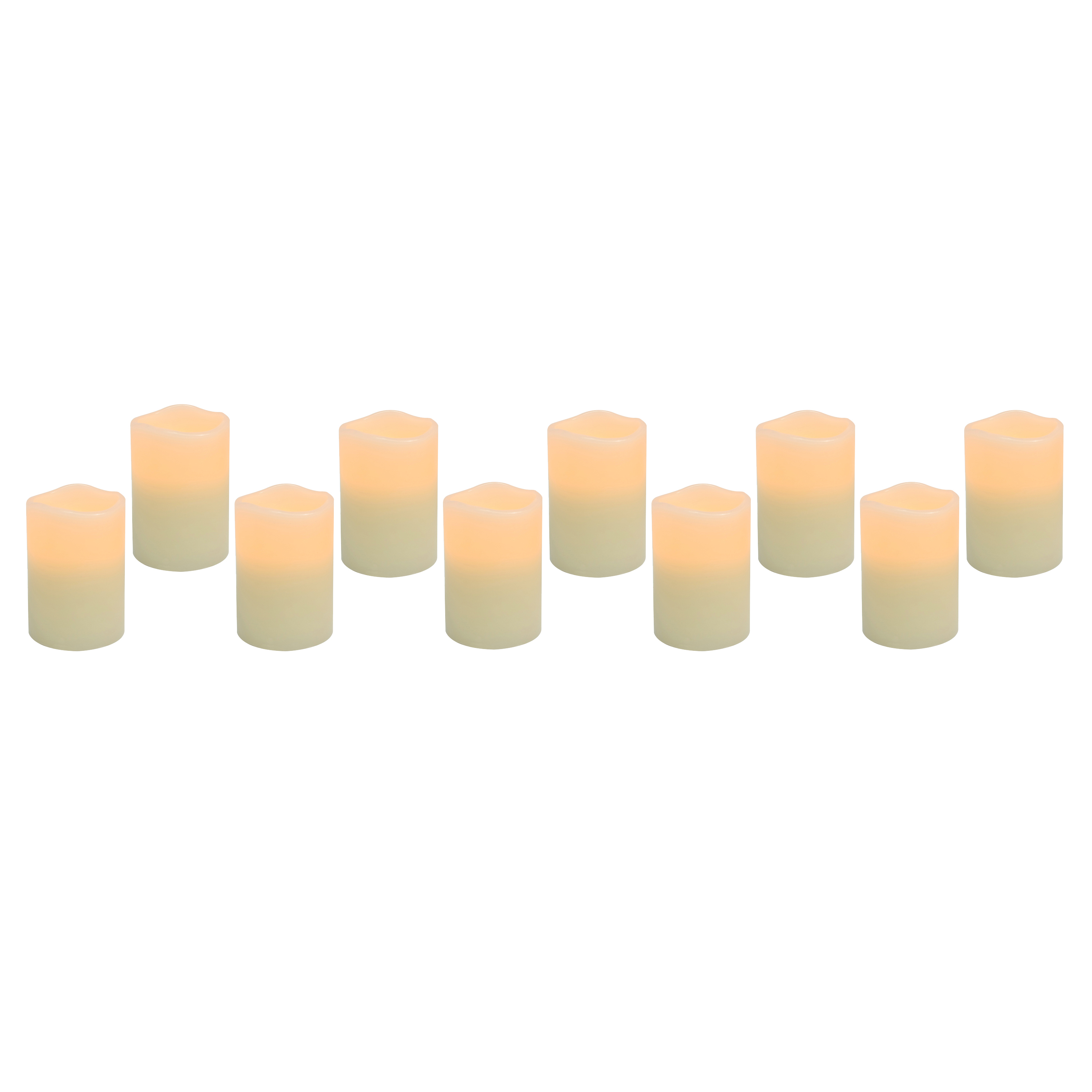 Flameless 2.8in LED Votive Candles, 10-Pack