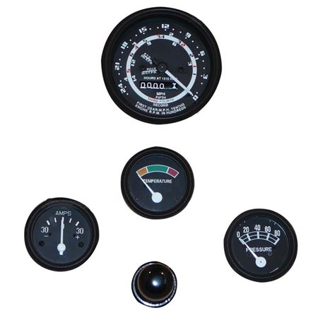 - New Ford Tractor 600 700 800 900 Instrument Gauge Cluster Kit w/ 5 Speed Trans.
