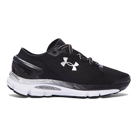 1af9b46ade3d Under Armour Men s UA Speedform Gemini 2.1 Running Shoes Black Silver White  (8.5M)