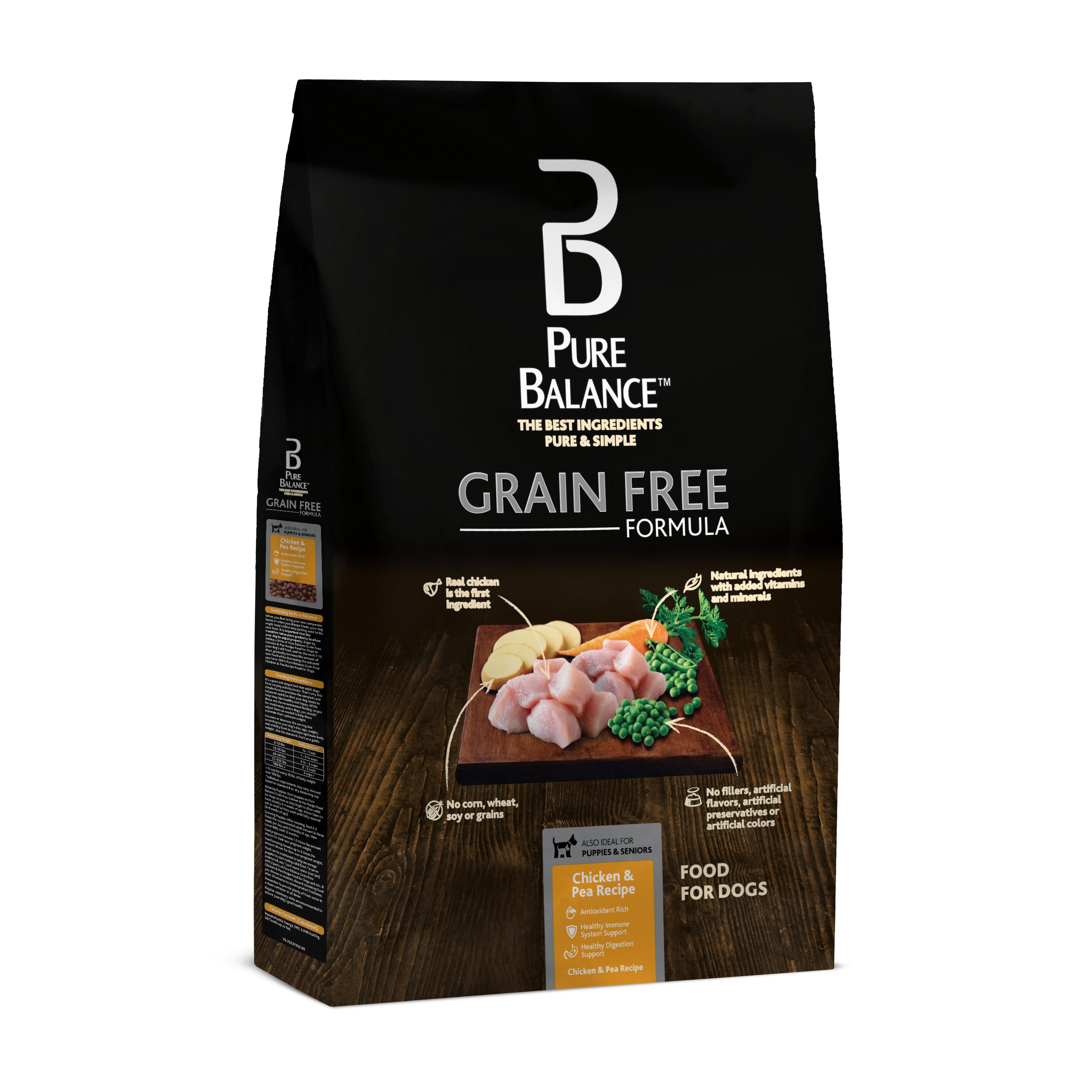 Pure Balance Grain Free Chicken & Pea Recipe Food for Dogs 4 lb