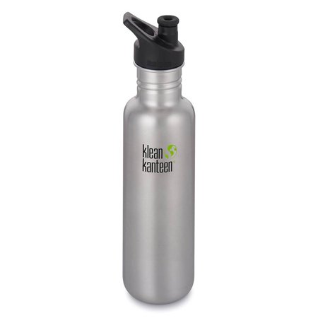 Klean Kanteen® 27oz Classic Bottle with Loop Cap - Brushed Stainless