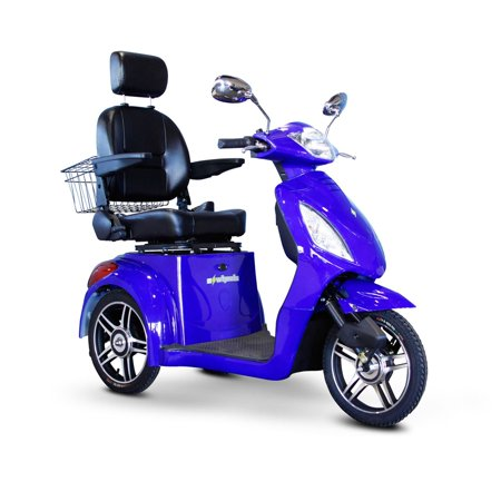 E wheels ew 36 3 wheel electric senior mobility scooter for Motorized scooters for elderly