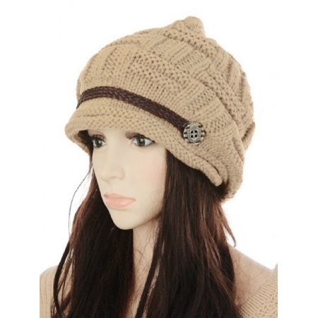 Soft Warm Wool Hat Cap Winter Fleeced Inside Thick Ear Flaps Women Fashion ()