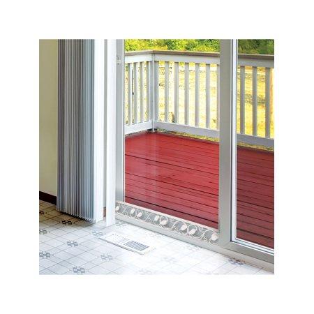 U.S. Patrol Sliding Door Security Bar - Decorative Adjustable Glass Patio Door Jammer -Door Stopper Blocker Fits in Track To Prevent Opening ()