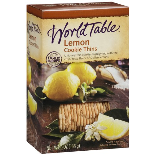 World Table Lemon Cookie Thins, 6 oz