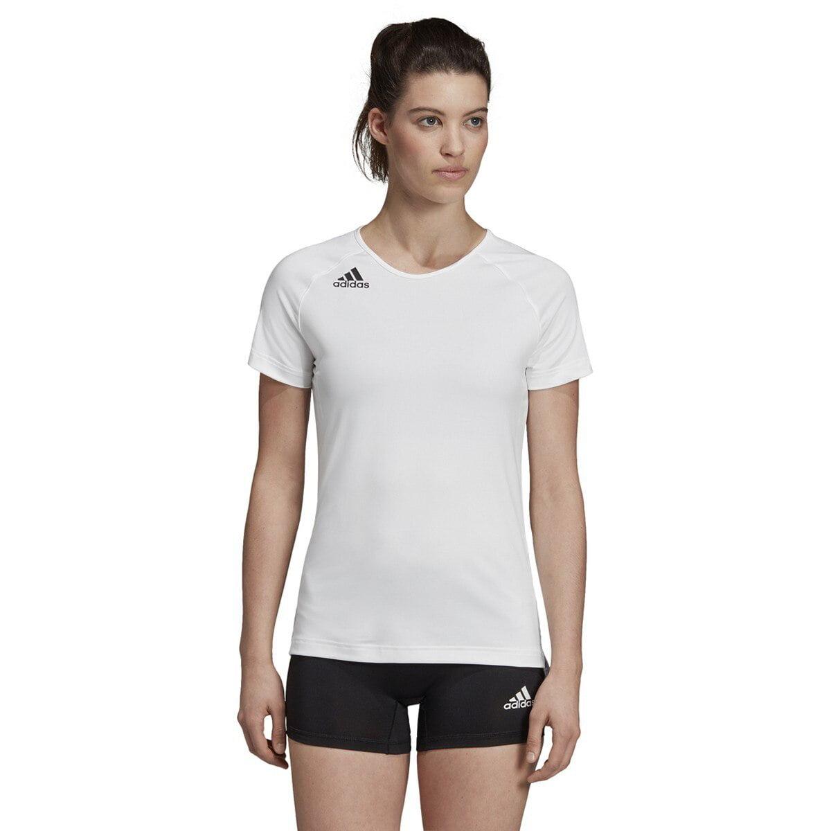 Adidas HILO Women's Short Sleeve Volleyball Jersey DP4343 - White, Black
