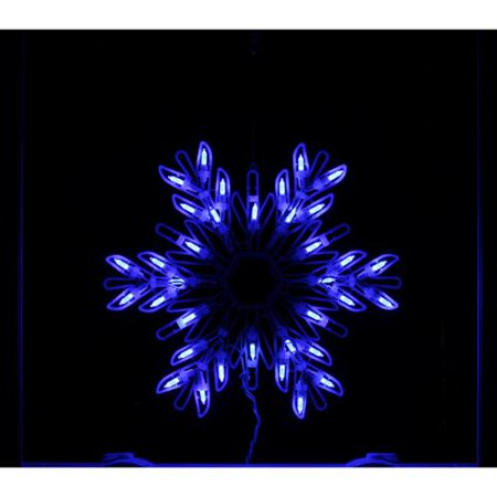 15 blue led lighted snowflake christmas window silhouette for 16 lighted snowflake christmas window silhouette decoration