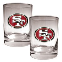 San Francisco 49ers 14oz. Rocks Glass Set