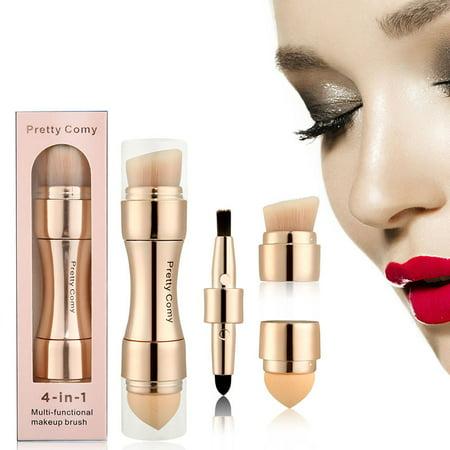 4 in 1 Makeup Brush Set, Eyeshadow Eye Lip Face Concealing Blush Foundation Brush For Eyes Lips Face Foundation Makeup