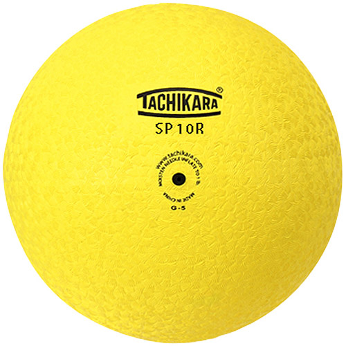 "Tachikara 10"" Rubber Playground Ball, Yellow"