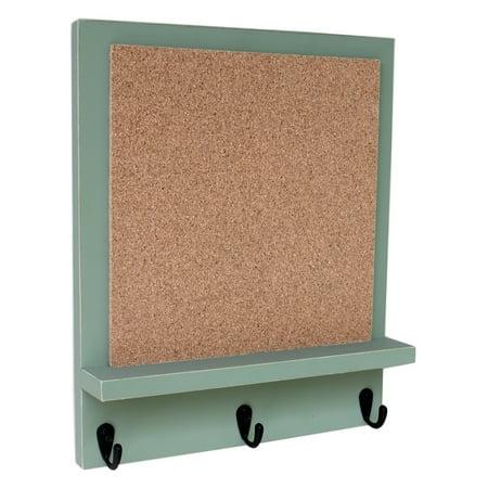 Cork Board with Shelf & Key Hooks (Mountain Cork)