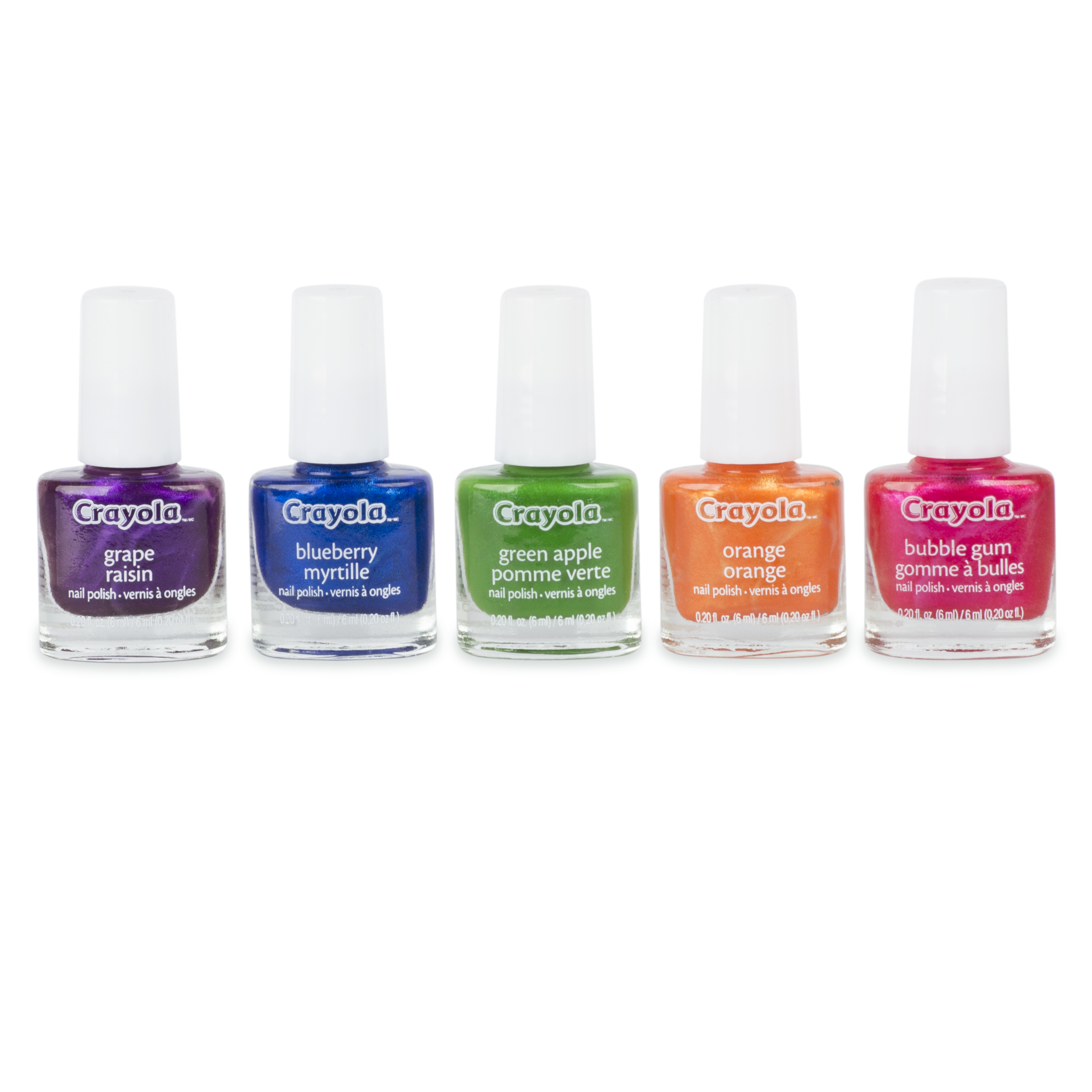 Fing'rs Crayola Scented Nail Polish, 0.20 fl oz, 5 ct