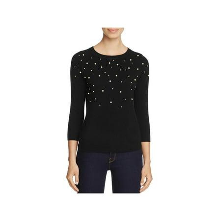 C Label Womens Cashmere Beaded Crewneck Sweater