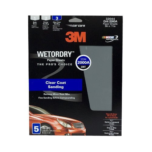 3m[tm] Imperial[tm] Wetordry[tm] Sheet, 32044, 9 In X 11 In, 2000, 5 Sheets Per Pack
