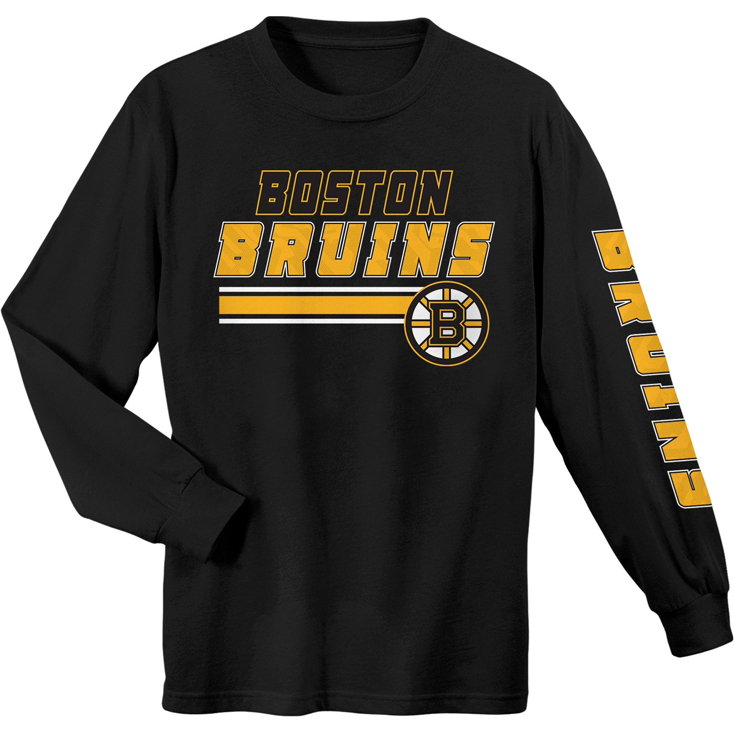 Youth Black Boston Bruins Long Sleeve T-Shirt