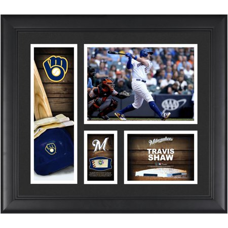 Travis Shaw Milwaukee Brewers Framed 15
