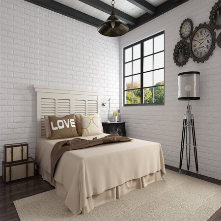 Gohope 3d Brick Wallpaper Peel And Stick Panels White Brick Textured Effect Wall Decor Adhensive Wall Paper For Bathroom Kitchen Living Room Home Walmart Canada