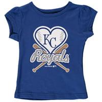 MLB Kansas City ROYALS TEE Short Sleeve Girls Cotton Jersey Team Color 12M-4T