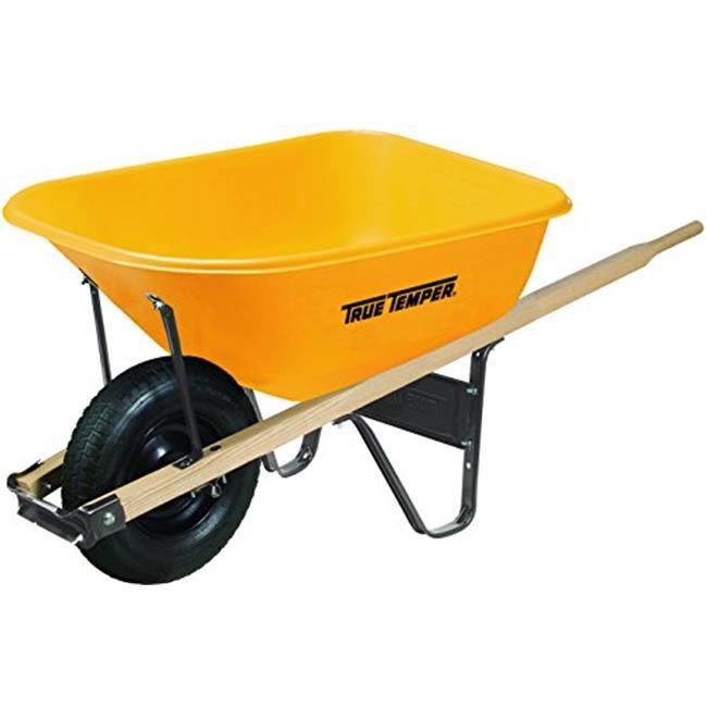 True Temper 027-RP625 6 cu ft. Poly Plastic Wheelbarrow