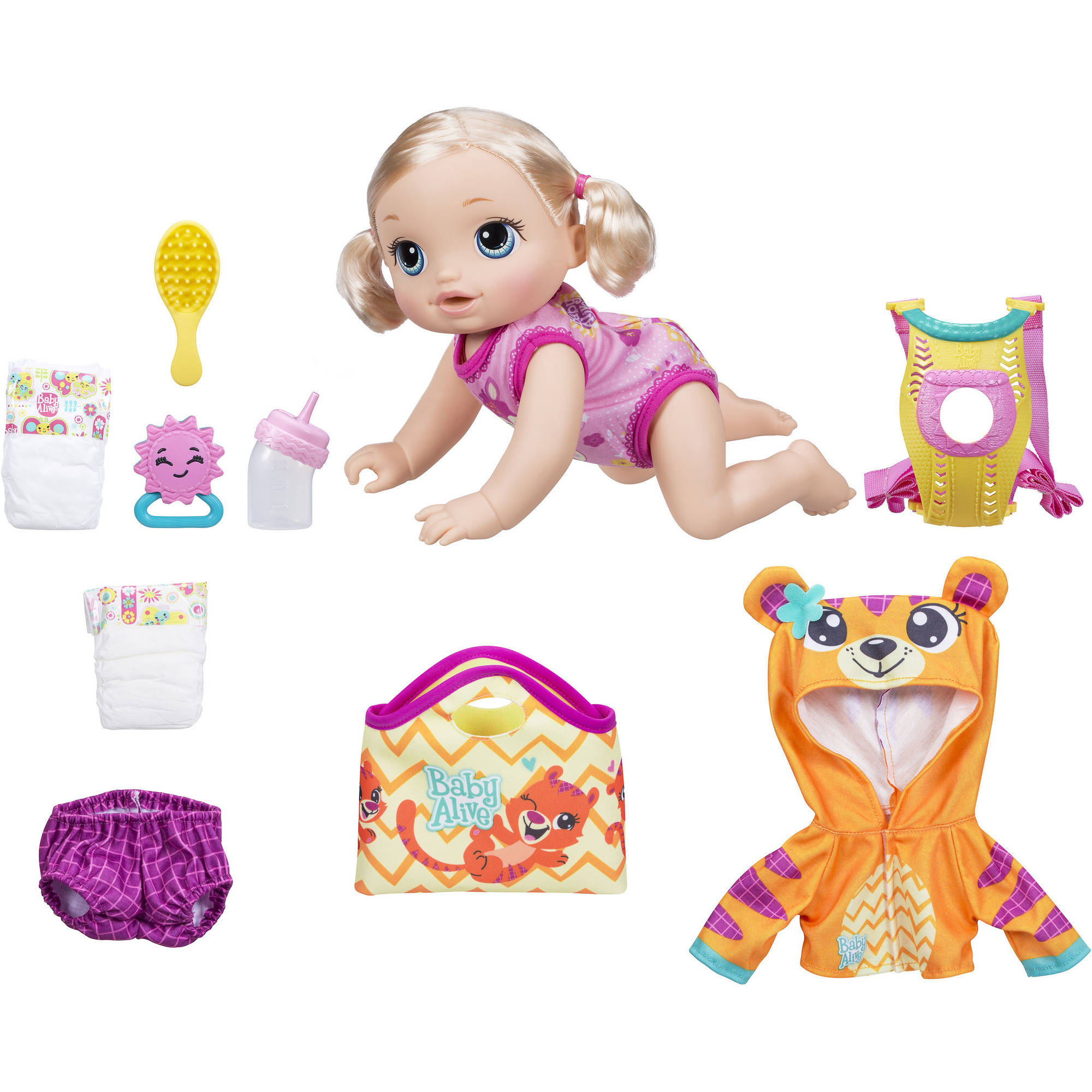 Baby Alive Baby Go Bye Bye - Blonde Hair (Exclusive Value Bundle)