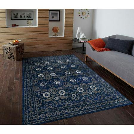 1454 Blue 8 x 10 Area Rug Carpet Large New ()