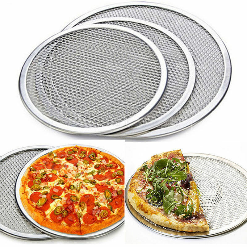 6//8//10 inch Non Stick Pizza Tray Carbon Steel Baking Round Oven Tray Pizza Pan