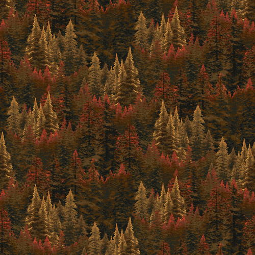 "David Textiles Thomas Kinkade ""Evergreen Forest"" Fabric by the Yard, 44""W"