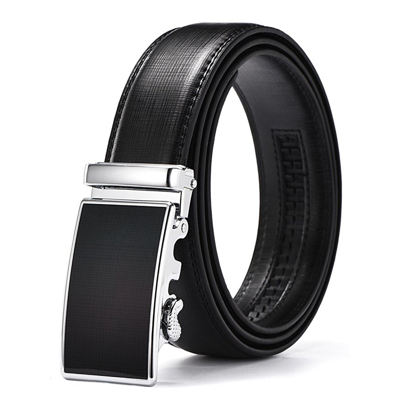 Mens Ratchet Color Belt Automatic Buckle Genuine Leather belt Fashion Men's Belt