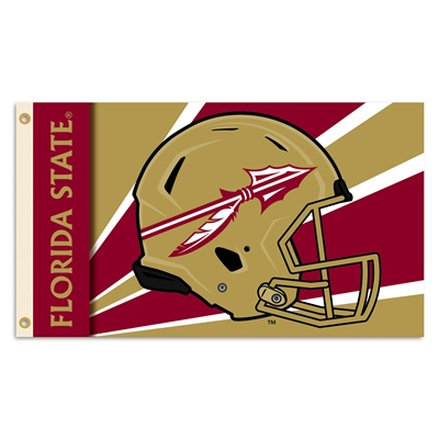 Florida State Seminoles Helmet Logo 3X5 Flag With Metal Grommets
